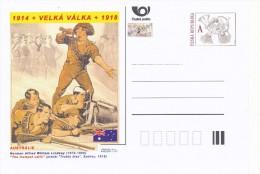 """Czech Rep. / Postal Stat. (Pre2014/31) Great War (WWI) 11 Australia: Norman Lindsay """"The Trumpet Calls"""" - Postwaardestukken"""