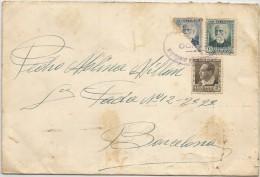 1937 ESPAÑA SOBRE DESDE VEDADO DE ZUMA A BARCELONA - ESPAÑA,32 DIVISION MANDO, CENSURA MILITAR , SELLO BISECTADO - Military Service Stamp