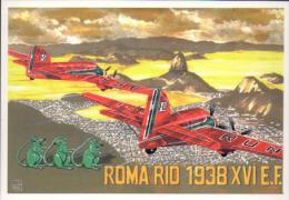1239 Roma Rio De Janeiro S.M. 79 Sorci Verdi Bruno Mussolini Biseo Paradisi SM 79 - Weltkrieg 1939-45