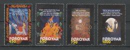 FEROE 1998 N° 326/329 ** Neufs = MNH Superbes Cote 12 € Chanson De Brunehilde Nains Faune Cheval Horses Animaux Sie - Faroe Islands