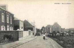 BELGIQUE - BRABANT WALLON - TUBIZE - SAINTES - Rue De La Station. - Tubize