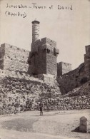 ISRAEL / PALESTINE : JERUSALEM - TOWER Of DAVID ( HIPPIKUS ) - CARTE VRAIE PHOTO / REAL PHOTO POSTCARD ~ 1930 (s-591) - Palestine
