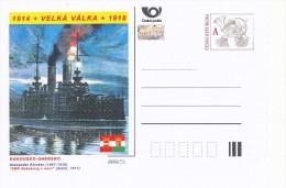 """Czech Rep. / Postal Stat. (Pre2014/33) Great War (WWI) 13 Austria-Hungary: Alexander Kircher """"SMS Habsburg At Night"""" - Postwaardestukken"""