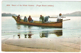 USA PUGET SOUND Indians Return Of Whale Hunters Retour D'une Chasse à La Baleine - Indiens De L'Amerique Du Nord