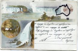 - Multi Vues - Niagara Falls -  Goat Island, Canadien Postal Card, écrite, épaisse, BE, Scans. - Canada