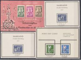 Saarland Lot 9 Sonderkarten Mit Marken Als FDC Ansehen !!!!!!!!!!!!!! - Briefmarken
