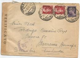 1945 - SOBRE VOLADO DE ITALIA A COLOMBIA - ITALIA - 4. 1944-45 República Social