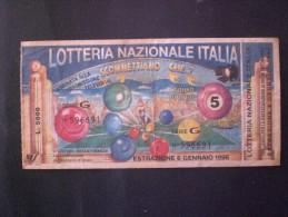 BIGLIETTO LOTTERIA NAZIONALE ITALIA 1996 - Billets De Loterie