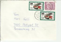 ALEMANIA DDR BITTERFELD SELLOS TRANVIA - Tramways
