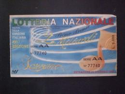 BIGLIETTO LOTTERIA  NAZIONALE ITALIA 1995 FESTIVAL DI SANREMO RARO ! - Biglietti Della Lotteria