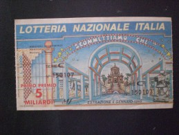 BIGLIETTO LOTTERIA  NAZIONALE ITALIA 1995 - Loterijbiljetten