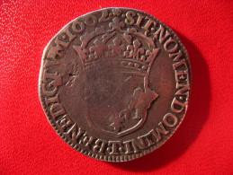 1/2 Demi écu Louis XIV 1662 T Nantes - Coin Fissuré 3334 - 987-1789 Monnaies Royales