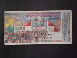 BIGLIETTO LOTTERIA  NAZIONALE EUROPEA 1995 - Loterijbiljetten