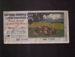 BIGLIETTO LOTTERIA  NAZIONALE EUROPEA 2000 - Loterijbiljetten