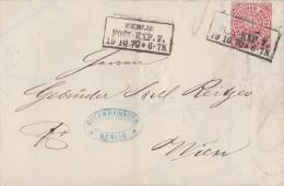 NDP Brief EF Minr.16 Berlin Post.-Exp.7 15.10.70 Gel. Nach Wien - Norddeutscher Postbezirk