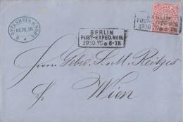 NDP Brief EF Minr.16 Berlin Post.-Exp.Nr.8 29.10.70 Gel. Nach Wien - Norddeutscher Postbezirk