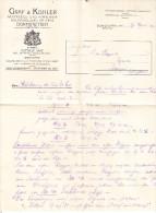 Schreiben Der Firma Graf & Kohler Dornstetten 1912 (24743) - Sonstige