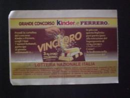 BIGLIETTO LOTTERIA  NAZIONALE ITALIA 1998 - Biglietti Della Lotteria