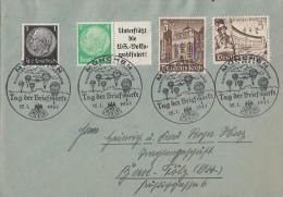 DR Brief Mif Minr.512,515 Zdr., 739,751 SST München 12.1.41 - Briefe U. Dokumente