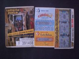 BIGLIETTO LOTTERIA  NAZIONALE ITALIA 2009 - Biglietti Della Lotteria