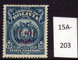 Bolivia 1928 15c/20c Perf 13½ (surcharge In Red)  SG 211 M/m (MH)