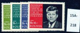 Bolivia 1968 President Kennedy 5th Anniv. Set/4 U/m (MNH) - Bolivia