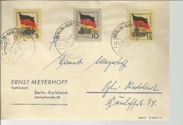ALEMANIA DDR BERLIN BANDERAS - Briefe