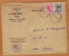 Enveloppe Brief Cover Commune De Velaine Velaine-sur-Sambre - Belgique