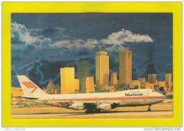 POSTCARD AVION  PLANE AIRCRAFT AIRPLANE BOEING B-747 MARTINAIR AVIATION - 1946-....: Moderne