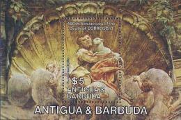 MDA-BK1-022-2 MSA MINT ¤ ANT. & BARBUDA 1984 BLOCK ¤ ST.  JOHN THE BAPTIST WITH SHEEP - ANIMALS OF THE WORLD - MAMMALS - - Sellos