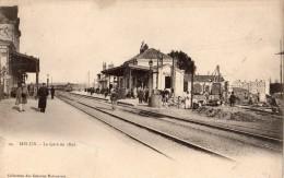 MELUN  LA GARE EN 1896 (PARTIE EN CONSTRUCTION) CARTE PRECURSEUR - Melun