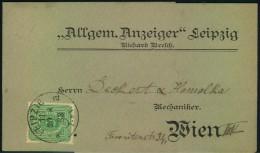 1883: Dekoratives Streifband Mit 5 Pfg. Ab LEIPZIG Nach WIEN - Deutschland