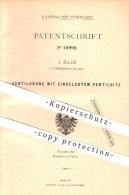 Original Patent - J. Isler In Winterthur , Schweiz , 1880 , Ventilhähne Mit Eingelegtem Ventilsitz , Wasserleitung !!! - Documents Historiques