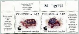 N° Yvert 1584 Et 1585 - Timbres Du Venezuela (1992) (Numérotés 49775) - WWF - MNH - Tortues (Geochelone Carbonaria) (JS) - Venezuela