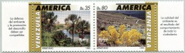 N° Yvert 1773 Et 1774 - Timbres Du Venezuela (1992) - MNH - America Upaep - Paysage Avec Flore (JS) - Venezuela