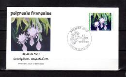 """POLYNESIE FRANCAISE 1994 : Env. 1er Jour FDC """" LA BELLE DE NUIT """" N° YT 462. Parfait état. - Plants"""