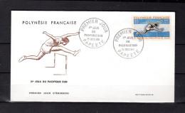 """POLYNESIE FRANCAISE 1966 : Env. 1er Jour """" 2èmes JEUX DU PACIFIQUE-SUD / SAUT DE HAIES """". N° YT 45. Parf. état. FDC"""