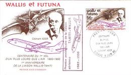 Wallis Et Futuna FFC First Flight Cover Premier Vol Aerien Premeir Anniversaire Liaison Tahiti Mata Utu  9/6/90 - Non Classificati