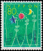 Japan Scott #2471, 80y multicolored  (1995) Greetings, Used