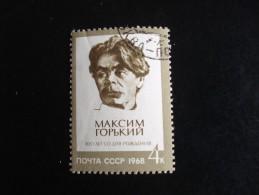 URSS - Année 1968 - Maxime Gorki-  - Y.T. 3346 - Oblitéré - Used - Gestempeld - Gebruikt