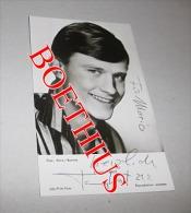 TOMMY KENT CARTE PHOTO UFA/Film Foto Avec Véritable Autographe 9 X 14 Cm - Autographes