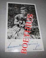 CARTE PHOTO D'EPOQUE ANNEMARIE DÜRINGER VERITABLE AUTOGRAPHE 9 X 14 AUTOGRAMM - Autographes