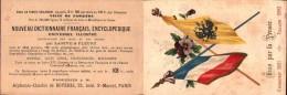 Publicité Encyclopédie Larive & Fleury - Jumelage France Russie (Cronstadt-Toulon) Drapeaux, Unis Par La Pensée - Advertising