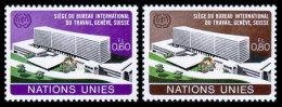 United Nations Geneva, 1974, Headquarters Of The International Labor Organization, ILO, Michel #37-38, Scott #37-38, ... - Ginevra - Ufficio Delle Nazioni Unite
