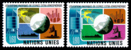 United Nations Geneva, 1975, Peaceful Use Of Outer Space, Michel #46-47, Scott #46-47, MNH, Perforated Set - Geneva - United Nations Office