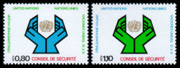 United Nations Geneva, 1977, Security Council, Michel #66-67, Scott #67-68, MNH, Perforated Set - Unclassified