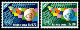 United Nations Geneva, 1978, United Nations General Assembly, Michel #78-79, Scott #79-80, MNH, Perforated Set - Geneva - United Nations Office
