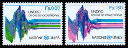 United Nations Geneva, 1979, United Nations Disaster Relief Organization, UNDRO, Michel #81-82, Scott #82-83, MNH, Pe... - Unclassified
