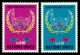United Nations Geneva, 1979, International Court Of Justice, ICY, Michel #86-87, Scott #87-88, MNH, Perforated Set - Unclassified