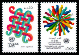 United Nations Geneva, 1982, Definitives, Michel #103-104, Scott #105-106, MNH, Perforated Set - Unclassified